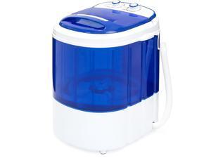 Best Choice Products Portable Compact Mini Single Tub Washing Machine w/ Hose - Blue
