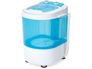 Best Choice Products Portable Mini Washing Machine w/ Drainage Tube, 6.6lb Capacity - Blue/White