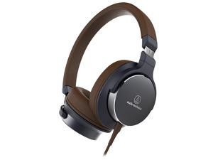Audio-Technica On-Ear High-Resolution Audio Headphones (Navy/Brown)