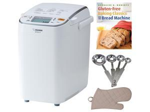 Zojirushi Home Bakery Maestro Breadmaker with Baking Book and Baking Accessories
