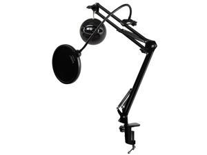 Blue Microphones Snowball iCE Microphone (Black) with Boom Arm and Pop Filter