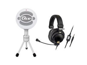 086ba8479ec Blue Microphones SNOWBALLICE White Mic w Audio Technica ATH-PG1 Gaming  Headset