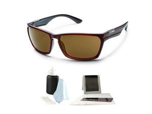 047900657473d Suncloud Cutout Injection Sunglasses - Burnished Brown
