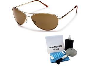0399e504d8644 Suncloud Patrol Sunglasses  Gold  Brown Polarized ...
