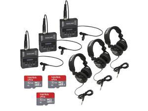 Tascam DR-10L Digital Recorder with Tascam Headphones and 32GB SD Card (3-pack)