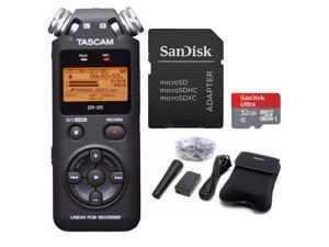 Tascam DR-05 Digital Recorder with Tascam Accessory Kit and 32GB Micro SD Card