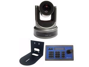 PTZOptics 20X-SDI Broadcast and Conference Video Camera + wall mount + joy stick bundle
