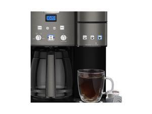 Cuisinart SS-15BKS Stainless Coffee Center 12 Cup Coffeemaker And Single-Serve Brewer, Black