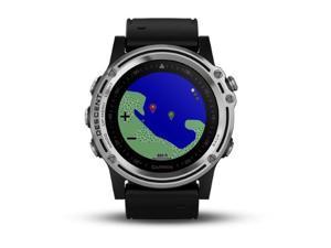 Garmin Descent Mk1 Silver with black band 010-01760-00 GPS Watch