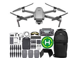 DJI Mavic 2 Zoom Drone Quadcopter with 24-48mm Optical Zoom Camera, Landing Pad and Remote Sunshade(with Fly More Combo Kit)