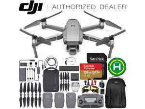 "DJI Mavic 2 Pro Drone Quadcopter with Hasselblad Camera Adjustable Aperture 20MP 1"" CMOS Sensor and SanDisk Extreme 128GB MicroSDXC UHS-I Card with Fly More Combo Kit"