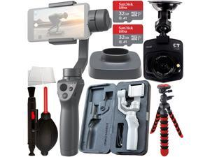 DJI Osmo Mobile 2 Smartphone Gimbal with FREE Promotional Dash Cam & Essential Accessory Bundle – Includes: 2x SanDisk Ultra 32GB microSDHC Memory Card, Flexible Gripster Tripod, and MORE