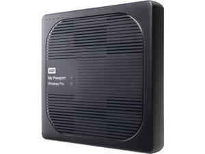WD 2TB My Passport Wireless Pro Portable External Hard Drive WiFi USB3.0 Wireless LAN 256MB BLACK