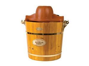 Nostalgia Electrics 4-Quart Wooden Bucket Electric Ice Cream Maker (Light Oak)
