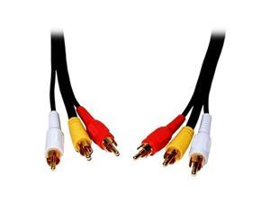 Comprehensive Model 3RCA-3RCA-6ST 6 ft Standard Series General Purpose 3 RCA Video Cable Male to Male