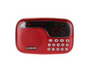 Longruner L-21 Mini FM Radio Speaker Digital Stereo Speaker High Fidelity Sound Quality LED