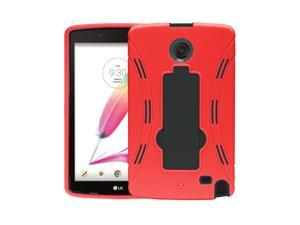 LG G pad Tablet Case Cover By KIQ [Red] Hybrid Heavy Duty Armor Durable Case For LG G Pad 2 8.0 V498, LG G Pad F 8 V495