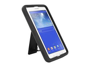 "Black Hybrid Protection Case Cover Rugged Durable Heavy Duty Impact Shock-proof Drop-proof with Integrated Screen Protector For Samsung Galaxy Tab E 3 7.0 7"" Lite T110 T111 T113 T116"