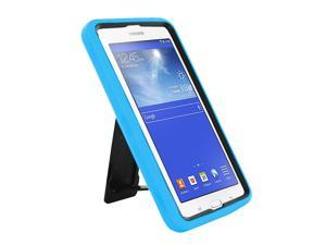 "Light Blue Hybrid Protection Case Cover Rugged Durable Heavy Duty Impact Shock-proof Drop-proof with Integrated Screen Protector For Samsung Galaxy Tab E 3 7.0 7"" Lite T110 T111 T113 T116"