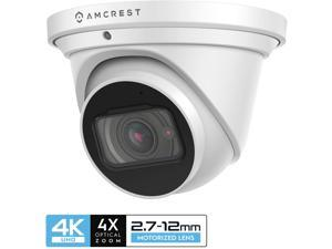 Amcrest 4K Optical Zoom IP Camera, Motorized Lens, 8MP Outdoor POE Camera Dome, 4X Optical Zoom Security Camera Turret, 2.7mm~12mm Lens, IP67 IK10 Vandal Resistant, MicroSD Recording, (IP8M-MT2544EW)