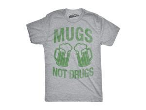 73029afcfa5 Mens Mugs Not Drugs Funny Irish Cheers Vintage St. Patrick s Day T shirt ...
