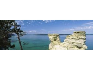 Miners Castle Pictured Rocks National Lakeshore Lake Superior Munising Upper Peninsula Michigan USA Poster Print (8 x 10)