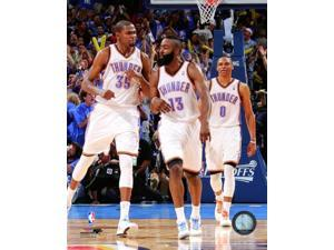 James Harden Kevin Durant & Russell Westbrook 2011-12 Action Photo Print (8 x 10)