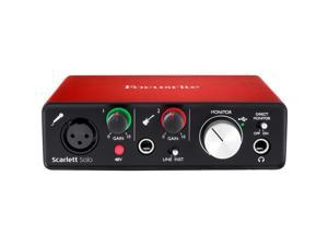 Focusrite Scarlett Solo 2nd Gen 2-in/2-out USB 2.0 Audio Interface