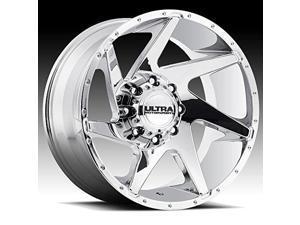 17x8//6x5.5mm, +25 mm offset Ultra Wheel 235C Maverick Chrome Wheel with Chrome Finish