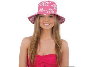 1c3df57964d Deluxe Adult Pink Hibiscus Hawaiian Gardening Bucket Hat Costume Accessory