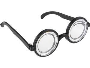 c63afa71ae3 50s Style Nerd Geek Dork Black Thick Rimmed Glasses Costume Accessory