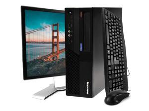 Lenovo Black ThinkCentre M58 Desktop Intel Core 2 Duo 2.9GHz 4GB RAM 120GB SSD Intel GMA 4500 DVD-ROM Windows 10 Home 19'' Display Keyboard Mouse