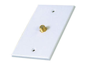 Rca Vh61n Single Coaxial Wall Plate (white)