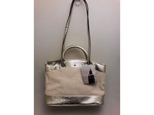 9fe42542caf1 London Fog Handbag (LF6587) Large Tote-Gold Snake
