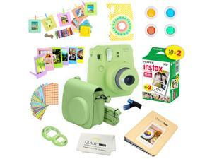 Fujifilm Instax Mini 9 (Lime Green)  Deluxe kit bundle Includes -Instant camera with Instax mini 9 instant films (20 pack) - Custom Camera Case - instax Album – Frames - wall hang frames- - Stickers -