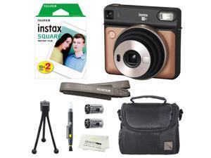 Fujifilm Instax SQUARE SQ6 Instant Film Camera (Blush Gold) + instax Wide Instant Film, 20 Square Sheets + Extra Accessories