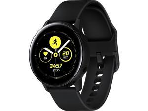 Samsung Galaxy Watch Active (40mm), Black (Bluetooth) - Wrist - Accelerometer, Barometer, Gyro Sensor, Health Sensor, Heart Rate Monitor, Ambient Light Sensor - Timer, Phone, Push Notification - ...