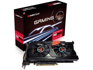 Biostar OC Gaming Radeon RX 570 8GB GDDR5 256-Bit DirectX 12 PCI Express 3.0 x16, DVI-D Dual Link, HDMI, 3 DisplayPort and COMMANDER ASSAULT WEAPON GAMING Dual Cooling Fan Edition