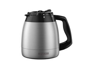 BLACK+DECKER 12-Cup Replacement Thermal Carafe with Duralife Construction, Stainless Steel TC1200B