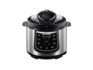 Presto 02141 6-Quart Electric Pressure Cooker, Stainless and Black
