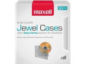 Maxell 190159 30Pk Cd-Slim30Cl Clear Slim Jewel Cases