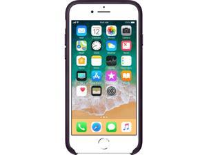 Apple iPhone 8 / 7 Leather Case - Dark Aubergine - iPhone 8, iPhone 7 - Dark Aubergine - Leather, MicroFiber