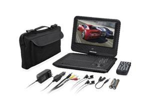 "GPX PD901VPB Portable DVD Player - 9"" Display - 800 x 480 - Black - DVD+RW, DVD-RW, CD-RW - DVD Video - 16:9 - CD-DA - 1 x Headphone Port(s) - Lithium Polymer (Li-Polymer) - 2 Hour"