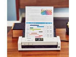 Brother ADS-1700W Wireless Compact Desktop Scanner - 48-bit Color - 25 ppm (Mono) - 25 ppm (Color) - Duplex Scanning - USB
