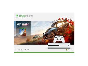 Microsoft Xbox One S 1TB Forza Horizon 4 Console Bundle  -  Full-game download of Forza Horizon 4 - Wireless controller & Xbox One S included - 1 month Xbox game pass trial - 14-day Xbox Live Gold