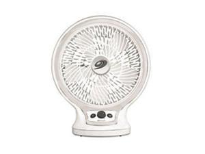 Bionaire BDF1011A-GU 10-Inch Table Fan Circulator with Infinite Speed Control, White