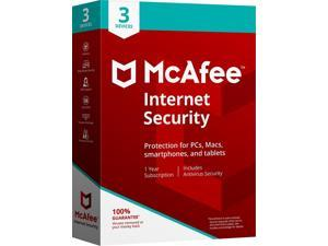 McAfee MIS00ENR3RAA INTERNET SECURITY 3DEVICE 2018