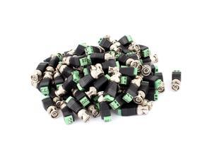 100 Pcs Screw Terminal Coaxial Cat5 to BNC Male Jack Video Balun Connector
