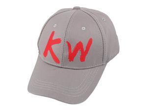 fa558551e64 Unisex Cotton Blends Letter Pattern Adjustable Baseball Cap Hip Hop Hat Gray