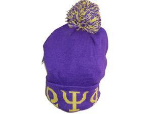 92c93c24149 Buffalo Dallas Omega Psi Phi Knit Cuff Mens Beanie Cap with Ball  Purple